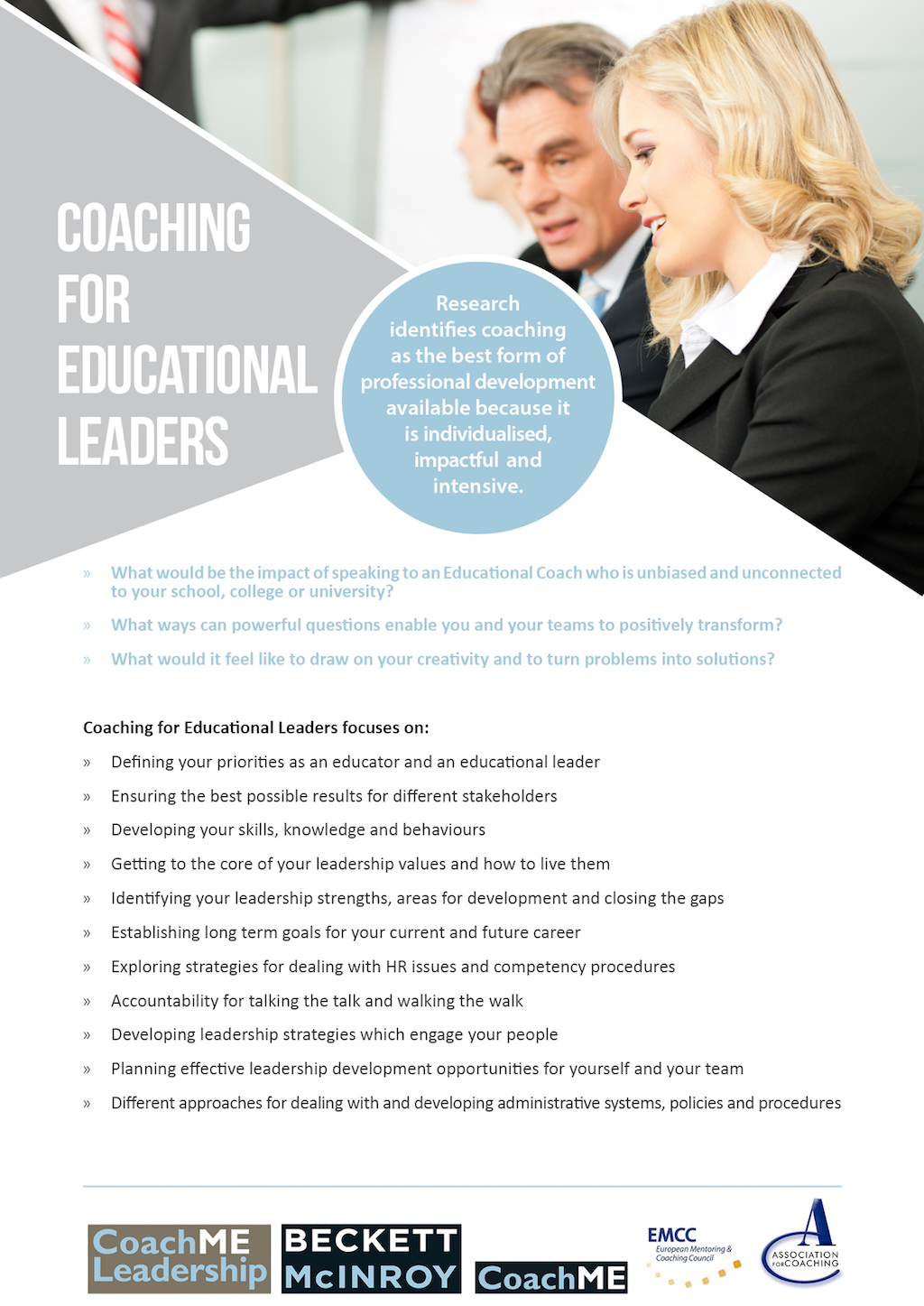 Coaching for Educational Leaders